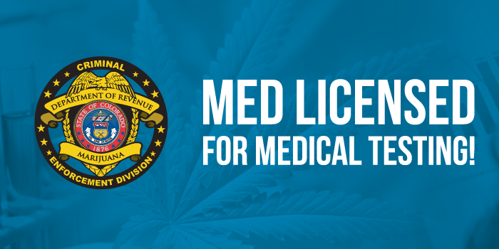 MED Licensed for MMJ Testing