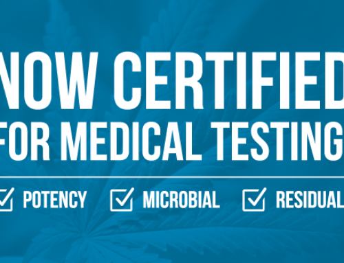Certified for Medical Marijuana Testing!