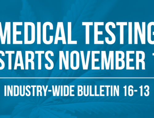 Medical Marijuana Testing to start November 1