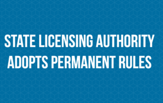 MED Licensing authority adopts permanent rules