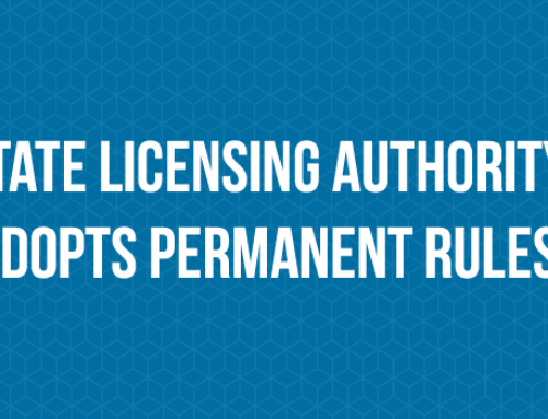 State Licensing Authority Adopts Permanent Rules