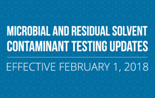 Microbial and Residual Solvent Testing Updates