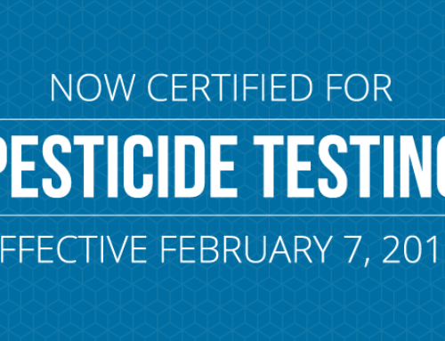 Certified for Pesticide Testing