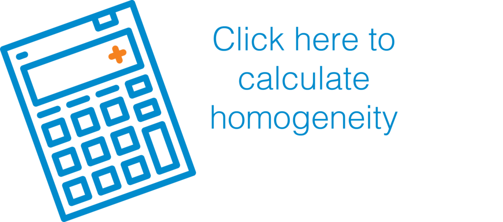 Click here to calculate your products homogeneity.